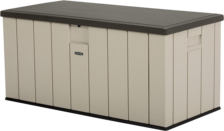 Amazon Com Lifetime 60254 Heavy Duty Outdoor Storage Deck Box 150 Gallon Desert Sand Brown Garden