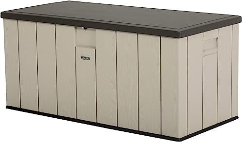 LIFETIME 60254 Heavy-Duty Outdoor Storage Deck Box, 150 Gallon, Desert Sand Brown