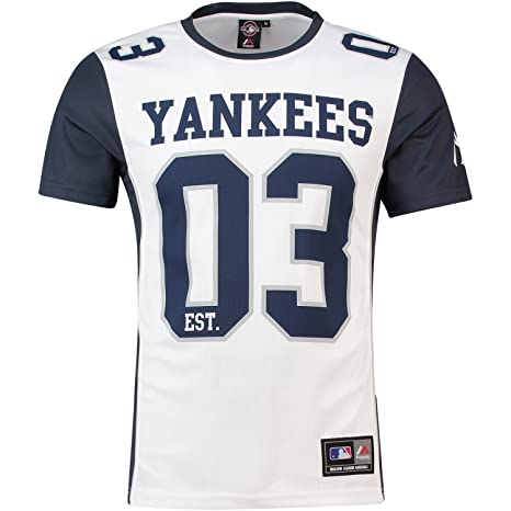 41bbbf8ee Image Unavailable. Image not available for. Color: Majestic MLB Mesh  Polyester Jersey Shirt - New York Yankees - XL
