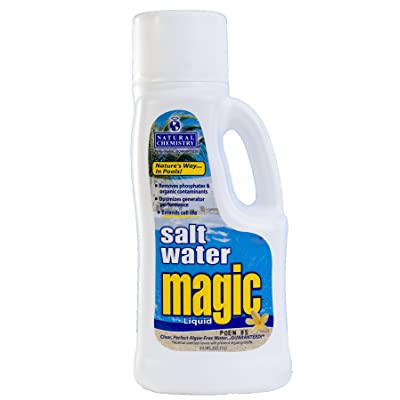 Natural Chemistry 07402 Pool Salt Water Magic Liquid, 1-Liter : Swimming Pool Clarifiers : Garden & Outdoor