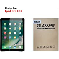Taslar Arc Edge Tempered Glass Screen Scratch Guard Protector For Apple iPad Pro 12.9 Inch(Clear)