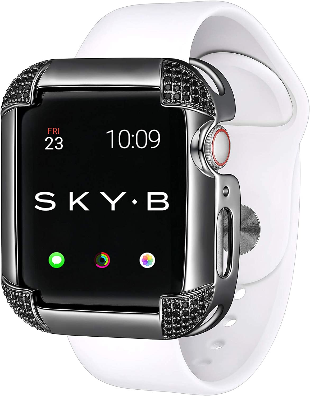 Skyb Pave Corners Black Protective Jewelry Case For Apple Watch Series 1 2 3 4 5 6 Se Devices 40mm