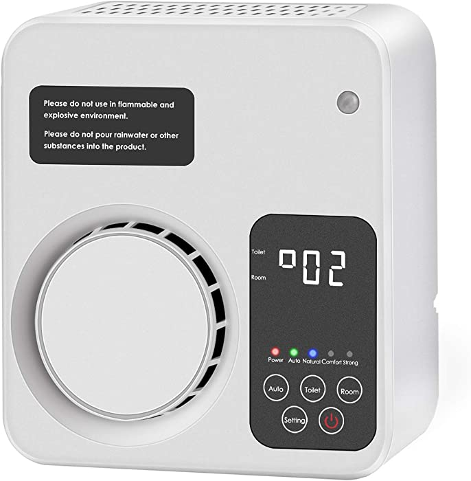 IVETTO Ionizer Ozone Generator O3 Air Purifier Deodorization Sterilizer for Room Office Bedroom and Toilet, White