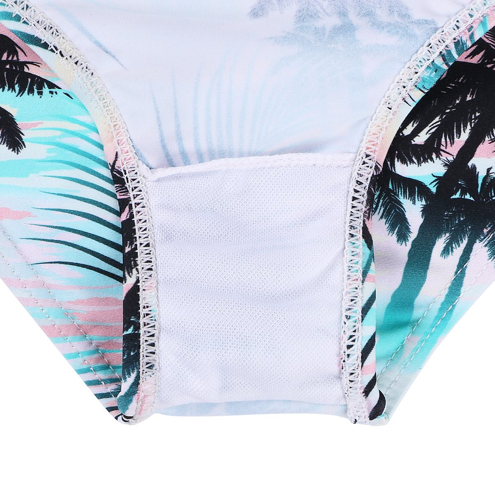 TFJH E Girls Swimsuit SPF UPF 50 UV 3PCS Rash Guard Swimwear Sunsuits 3-11Y