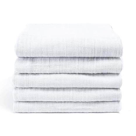 Muselina de algodón toalla de baño de la gasa 2 capas ...