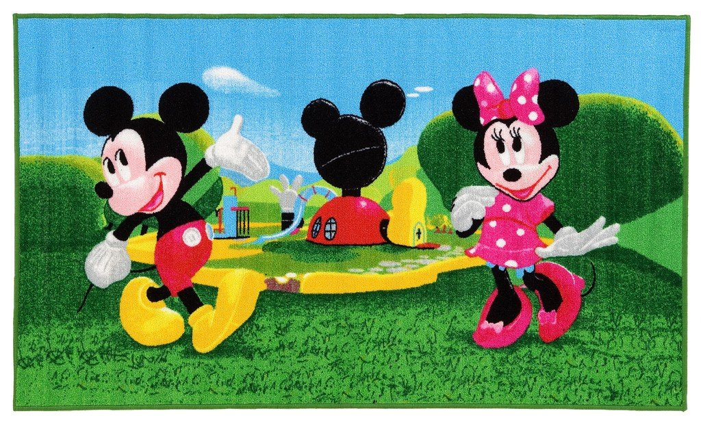 #tapis pour enfant motif disney mickey minnie & clubhouse 140 x 80 cm ABC
