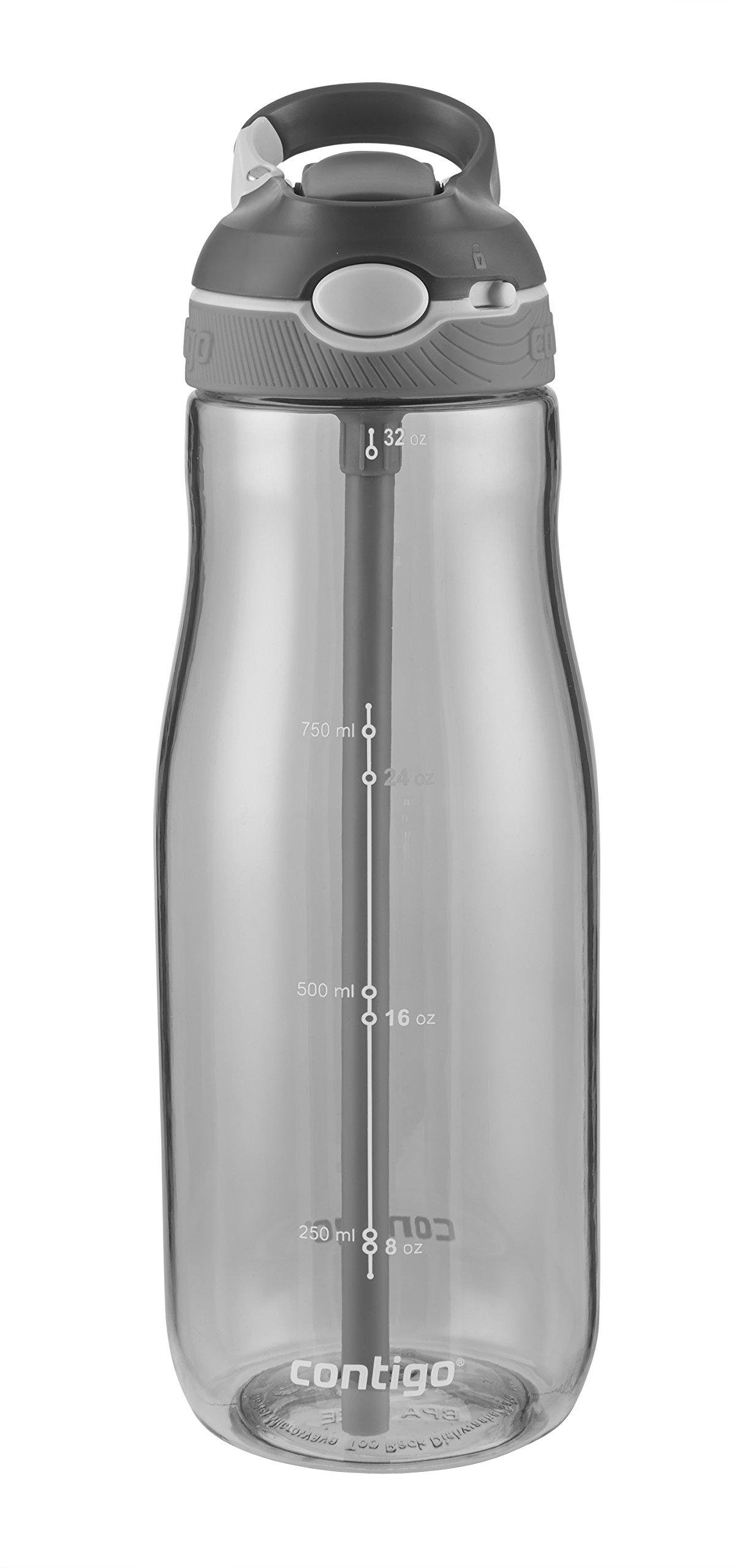 Contigo Autospout Ashland Water Bottle, 32oz , Smoke