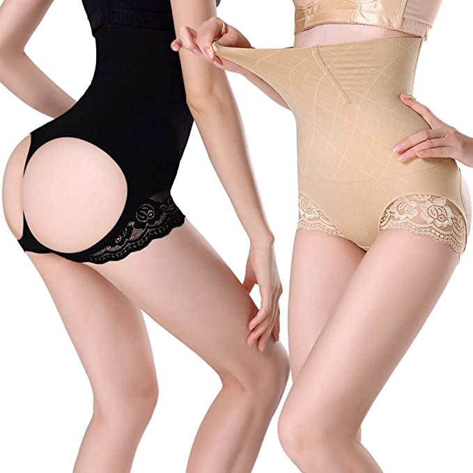 c0de16a1e5c Lelinta Butt Lifter Shaper Seamless Tummy Control Hi-Waist Thigh Slimmer  Shapewear Body Shaper for Women at Amazon Women s Clothing store