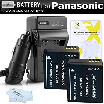 Amazon.com: Juego de 2 baterías y cargador para Panasonic ...