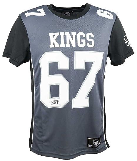 Majestic Camiseta NFL Sacramento Kings Dene Poly Mesh Gris/Negro Talla: S (Small