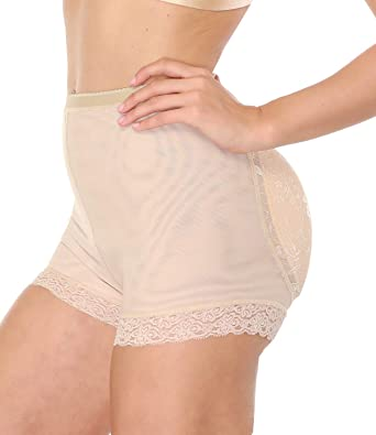 57de54deab9bc NINGMI Women Butt Lifter Padded Shapewear Enhancer Control Panties Body  Shaper Underwear - Beige - One
