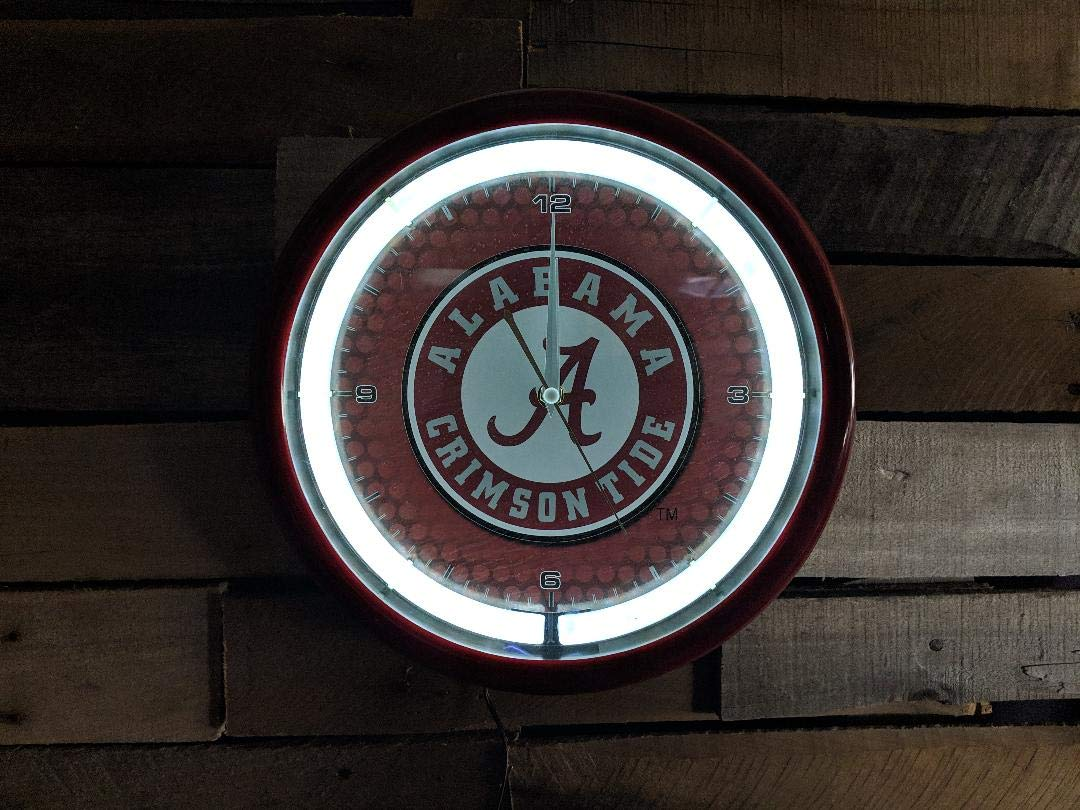 Authentic Street Signs NCAA College Team Plasma Clock (Alabama Crimson Tide) by Authentic Street Signs