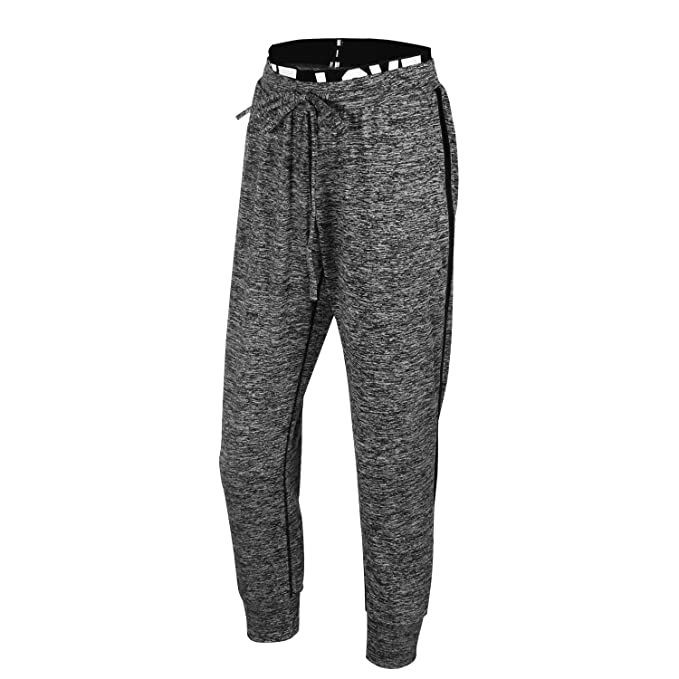 EUFANCE Women Yoga Sports Casual Pants Fitness Capri Drawstring Jogging Sweatpants