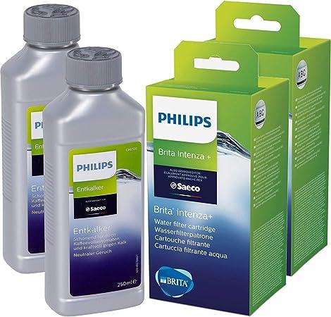 Saeco - Juego de 2 filtros de agua Brita y 2 descalcificadores Saeco: Amazon.es: Hogar