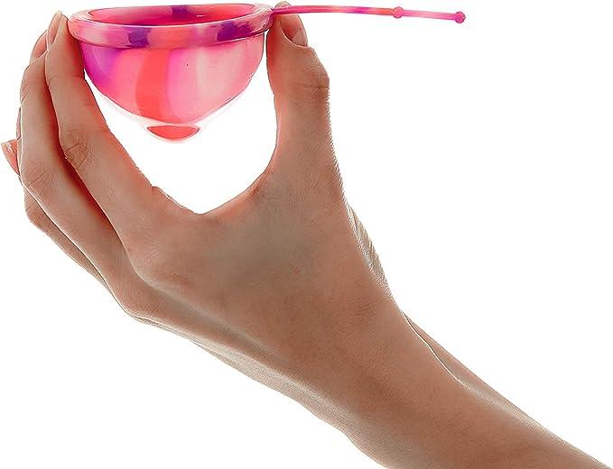 Lumma Unique - Copa Menstrual Flexible con Cordón de Silicona Médica - Copa Reutilizable - Sin Fugas - Cómoda Muy Suave - Pink Love, L