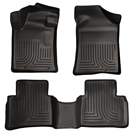 Amazon.com: 2014 - 2015 Nissan Altima - WeatherBeater Floor Mats Liners - Husky Black Front & Rear: Automotive