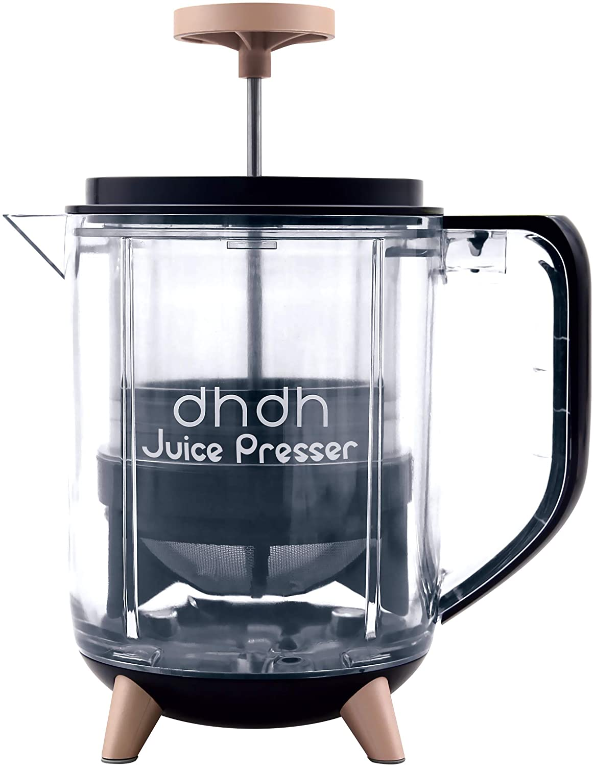 dhdh Juice Presser - Easy Manual Green Juice Extractor from Pulp or Blend with Adjustable Strainers