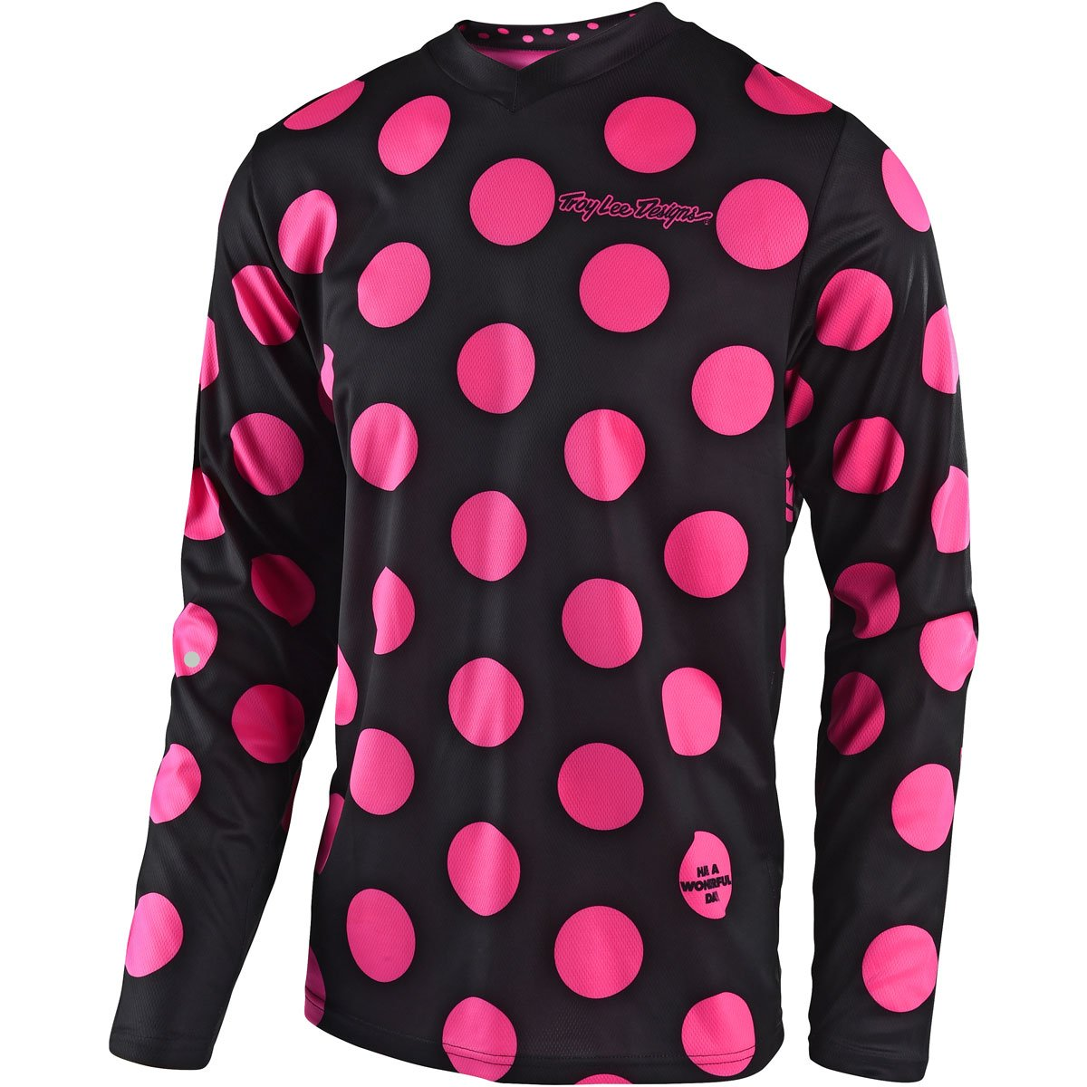 Troy Lee Designs 2018 GP Polka Dot Jersey-Black/Flo Pink-L
