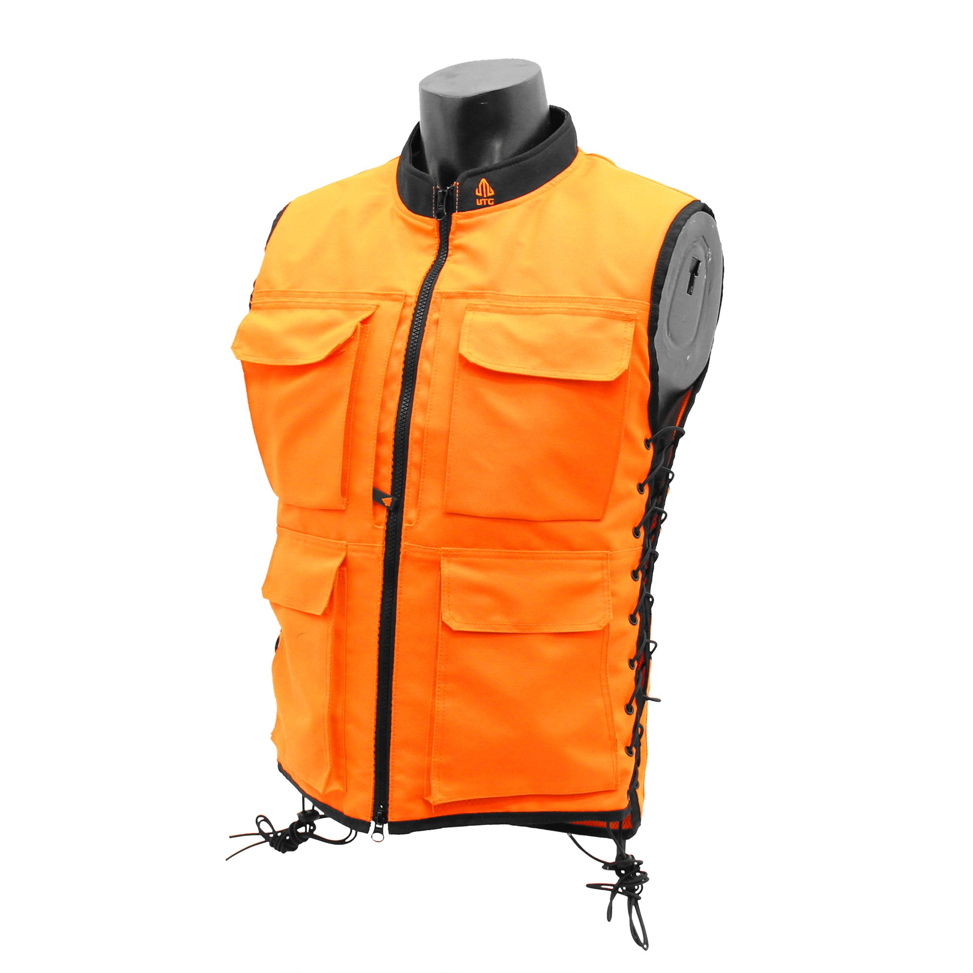 UTG True Hunter Male Sporting Vest (S to M), Orange/Black by UTG