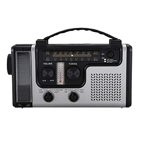 Andifany Radio Solar Multifuncional para Exteriores Radio FM/Am ...