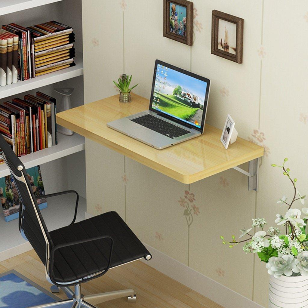 Even wall table Mesa de comedor de madera maciza Mesa plegable Mesa de ordenador portátil de madera maciza Mesa de desayuno plegable plegable Mesa de comedor plegable y plegable ( Tamaño : 7040cm )