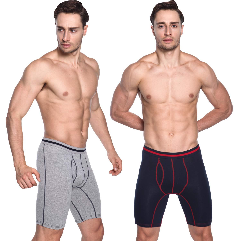 Sport Underwear Underpants 95/% Cotton Boxer Briefs Casual Loose L~2XL Men