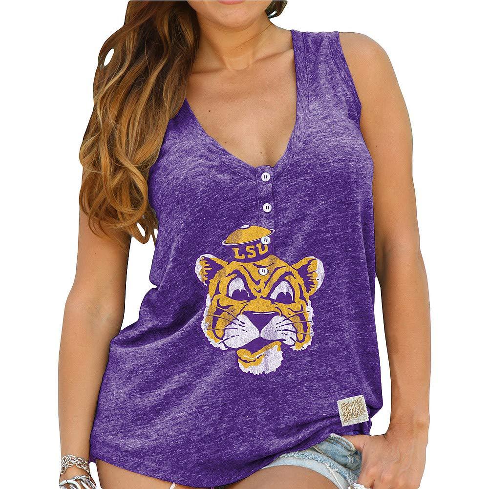 Elite Fan Shop NCAA Womens Relaxed Henley Tank
