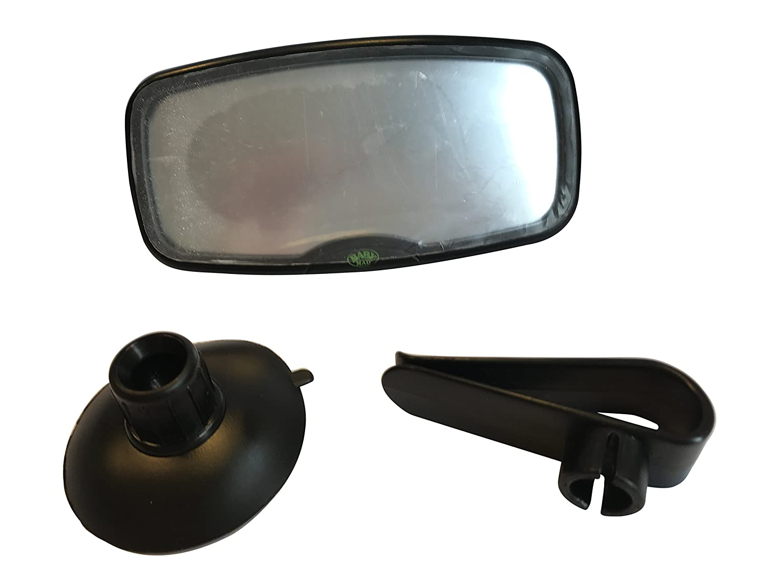 2 in 1 Baby Car Mirror Safety Child Rear View Mirror - Clip to Sun Visor Or use Suction Cup to Stick to Windscreen Car Rear View BabyMad® BM_2in1_Mir