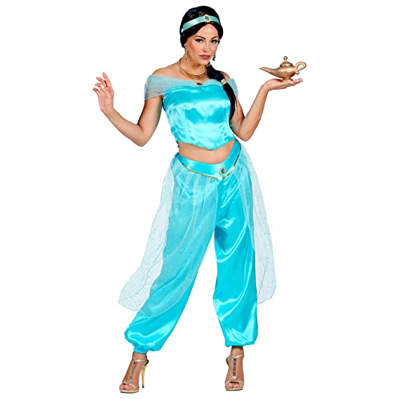 WIDMANN 09881 Disfraz de princesa árabe, mujer, azul: Amazon.es ...