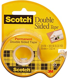 product image for Scotch Double Sided Tape, Permanent, 3/4 in x 300 in, 1 Dispenser/Pack (237)