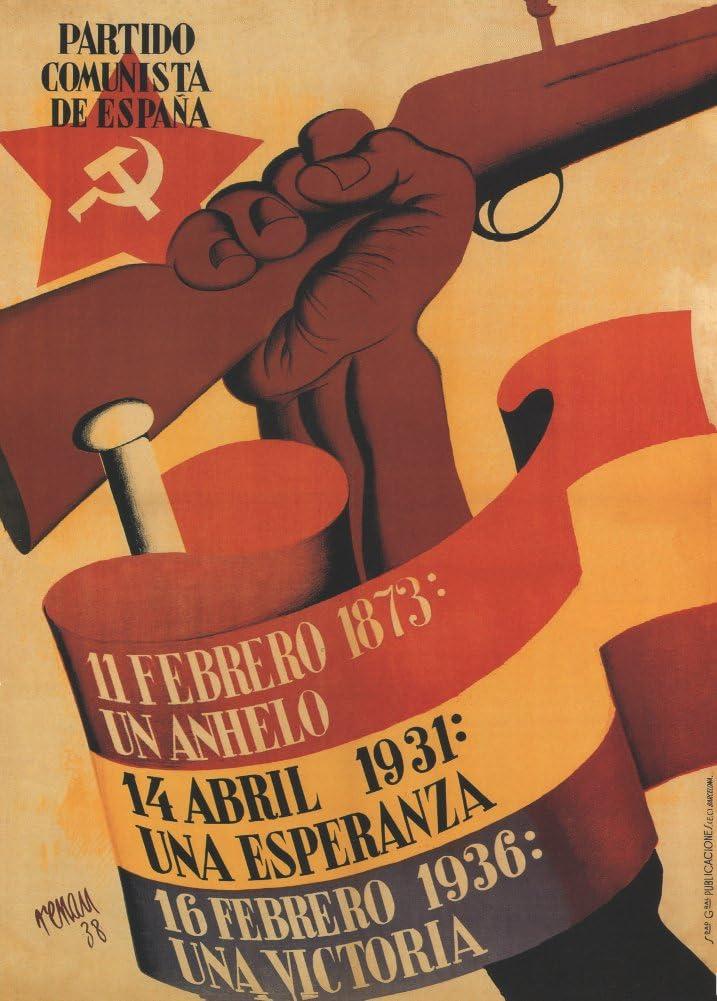 Póster de la Reproducción A3 de la Guerra Civil Española 1936-39 con texto en inglés