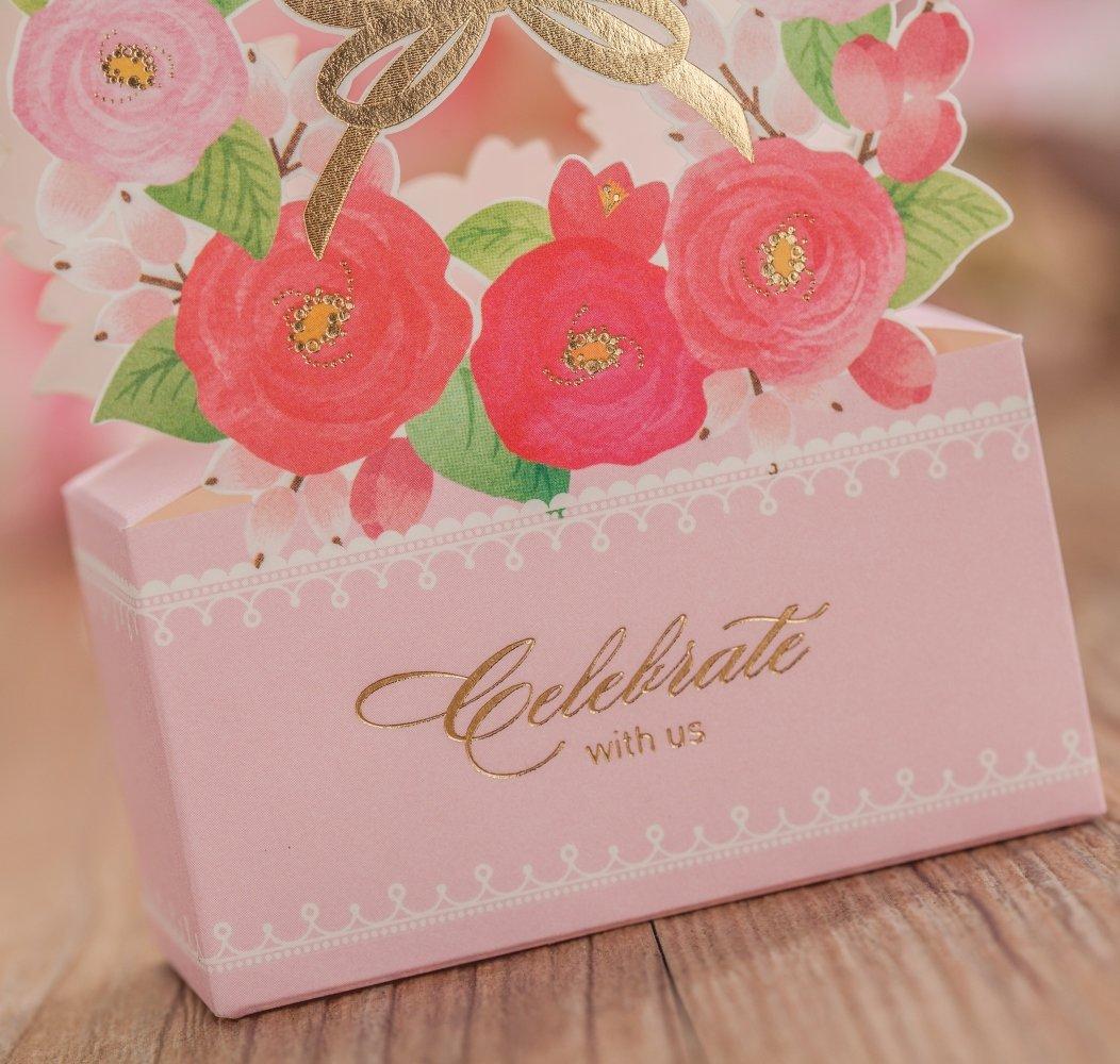 Amazon.com: Wishmade 10X Elegant Laser Cut Favor Box DIY Wedding ...
