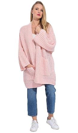 312545fbbef ARTY BLUSH Gilet Long en Mohair Femme  Amazon.fr  Vêtements et accessoires