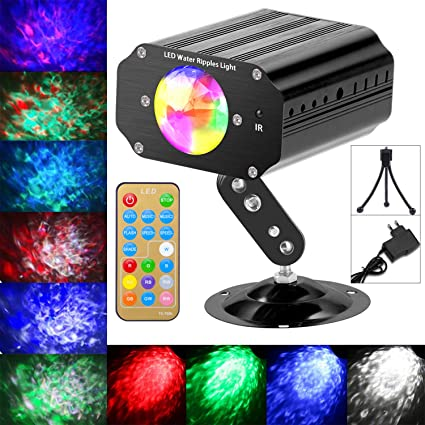 Luces de escenario luces mini discoteca 10 colores mando a ...
