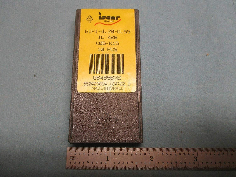 10PCS NEW ISCAR GIPI 5E 0.8 LS IC 428 K05 K15 CARBIDE INSERT EDP 06490471 TOOLS