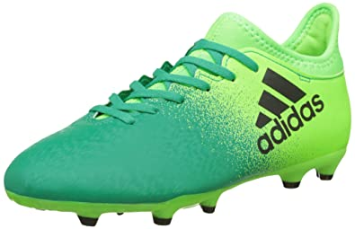 outlet store 32052 7c66d adidas X 16.3 FG J – Football Boots for Children, Green – (Versol
