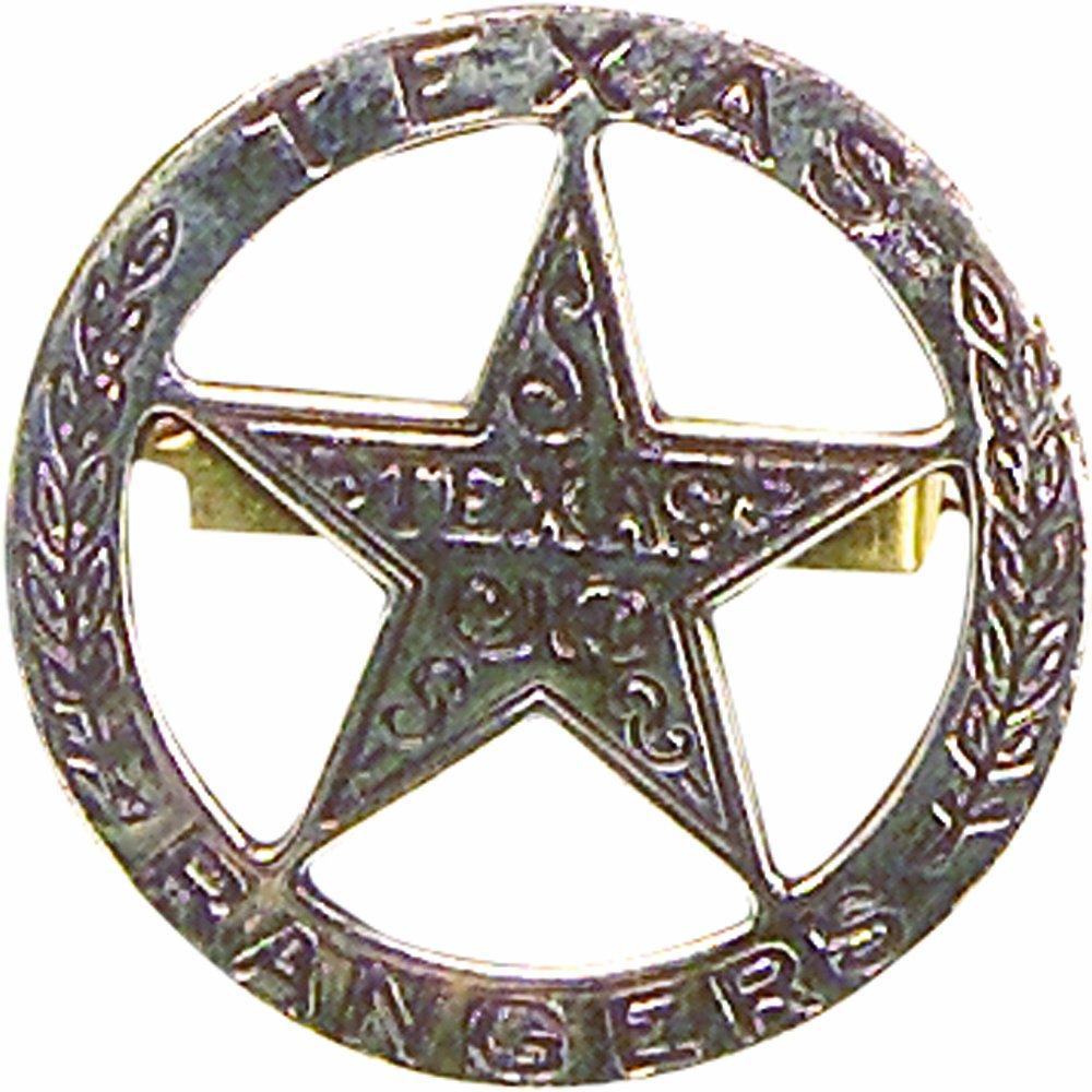 Denix 1823 Stephen Austin Texas Étoile de shérif Texas Ranger en nickel 22-102