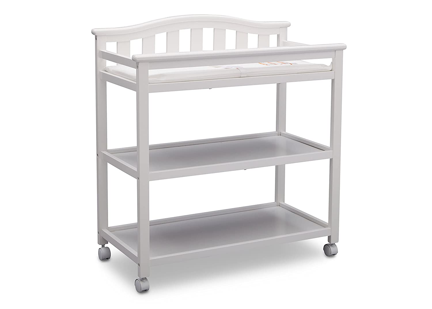 Delta Children Bell Top Changing Table with Casters, Grey 540242-026