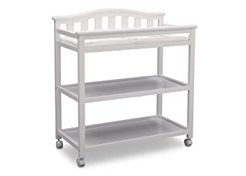 Beau Delta Children Bell Top Changing Table With Casters, White
