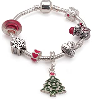 Liberty Charms Children's Eid 'Twinkling Moon and Star' Silver Plated Charm Bead Bracelet VXQ3VrhUnj