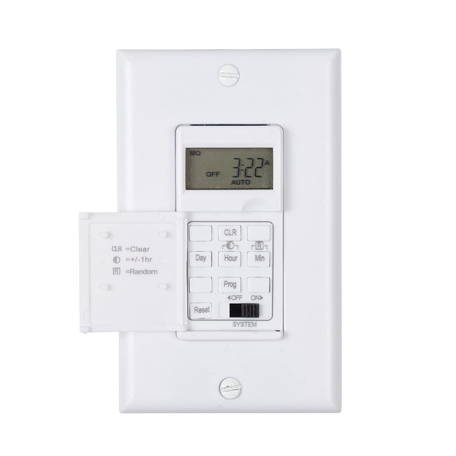 Century 7 Day Programmable In-Wall Timer Switch for Lights, fans and ...