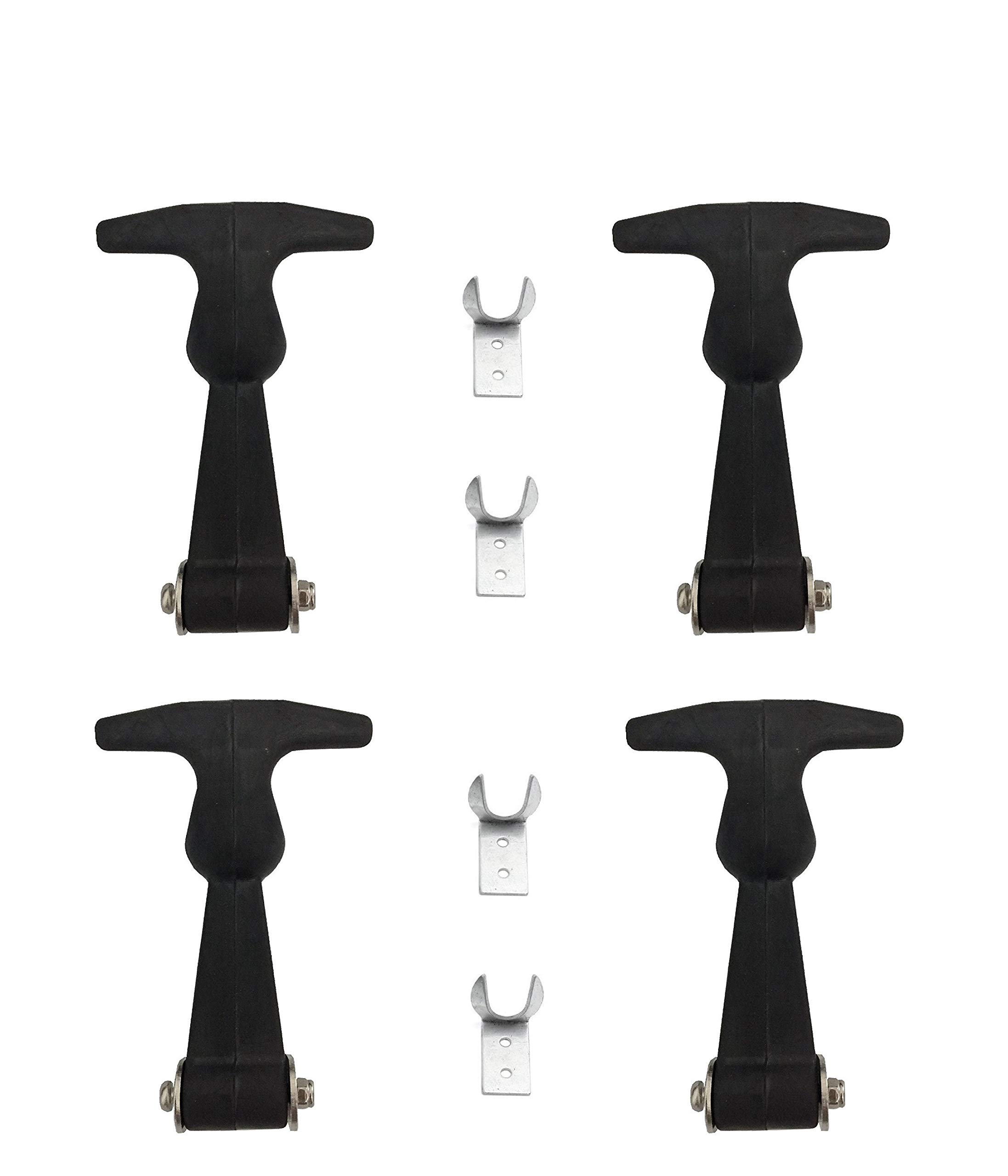 Alwaysuc 4 Packs Elastic Damping hasp - Hasp T-Handle Draw Latches by Alwaysuc