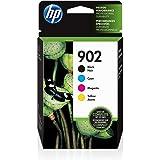 HP 902 Black, Cyan, Magenta & Yellow Original Ink, 4 Cartridges (X4E05AN)