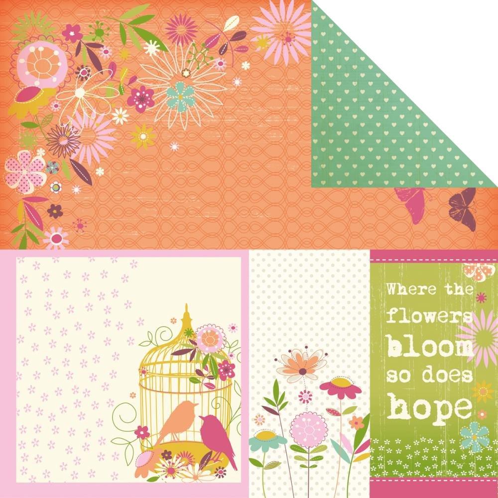 Kaisercraft Summer Breeze cartoncino Biadesivo 30,5 x 30,5 cm -Soleggiato Giorni 20 per Confezione