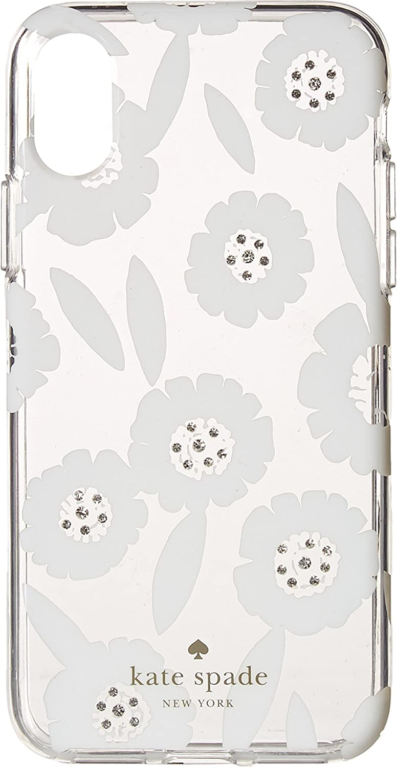 Kate Spade New York Women's Jeweled Majorelle Phone Case for iPhone X Clear Multi One Size