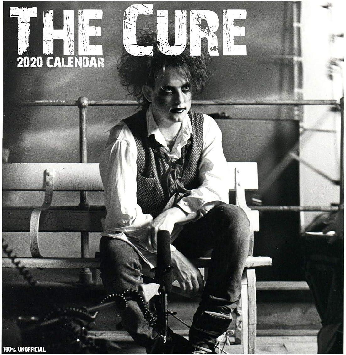 The Cure 2020 - Calendario de pared de 12 x 12 cm, cuadrado, con póster de regalo de cumpleaños o Navidad