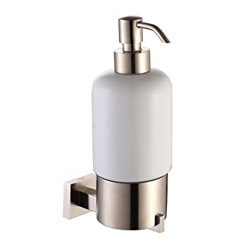 Kraus KEA 14461BN Aura Bathroom Accessories   Wall Mounted Ceramic Lotion Dispenser  Brushed Nickel