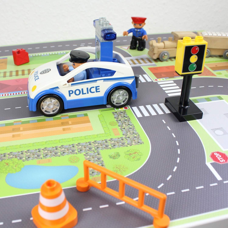 M/öbel Nicht inklusive Spielfolie//M/öbelfolie f/ür IKEA TROFAST Holz Stadtleben Aufkleber Sticker Kinderzimmer Spieltisch
