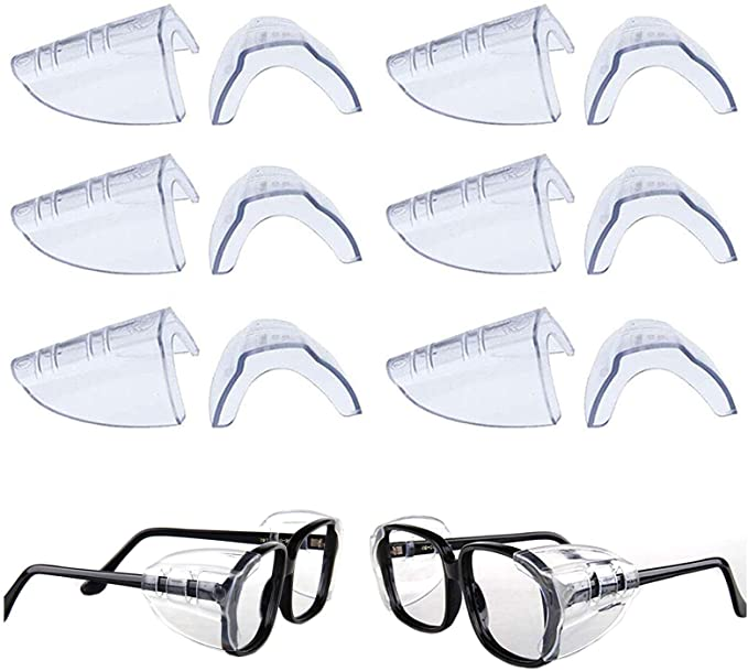 2pcs clear universal flexible side shields safety glasses goggles eye protec UQ