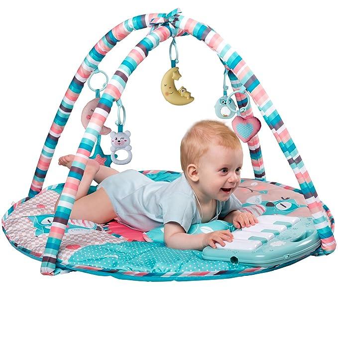 Amazon.com: Gimnasio grande para bebé con tapete ...